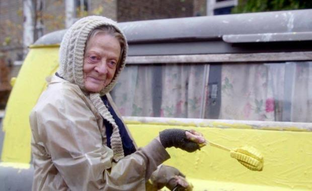 A long way from Downton: Maggie Smith as 'The Lady in the Van'
