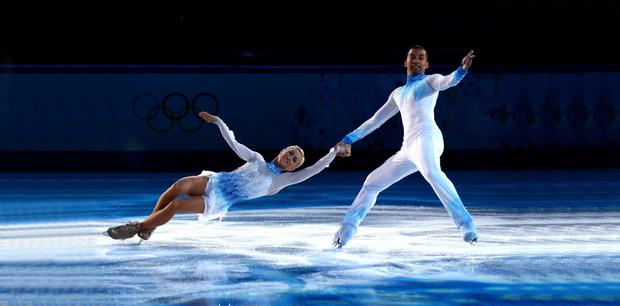 Ice cool: Aliona Savchenko and Robin Szolkowy of Germany perform in Sochi. Photo: Paul Gilham/Getty Images