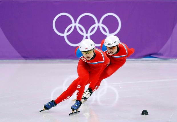 North and South Korean athletes will hold a unified flag for the opening ceremony. Photo: REUTERS