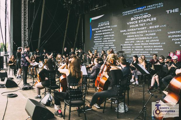 The Trinity Orchestra performing at the Forbidden Fruit Festival