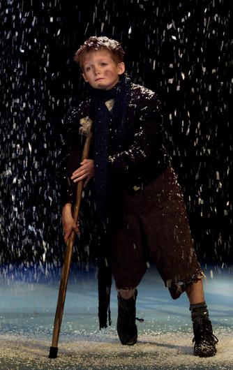 Jack Gleeson playing Tiny Tim in Charles Dickens's A Christmas Carol at the Gate Theatre, Dublin, in November 2002. Picture by Steve Humphreys