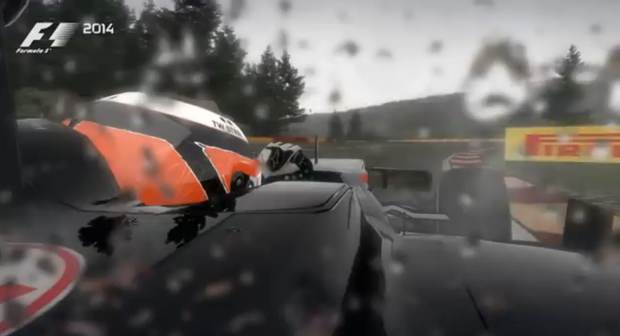 Screen shot from F1 2014 trailer