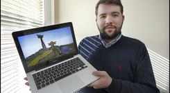 Shane Mooney has created the Eircraft service to enable young gamers to interact safely online. Picture: Steve Humphreys