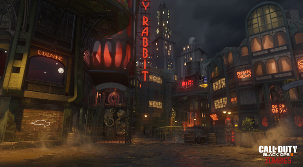 COD Blops 3 - Zombies takes place in a 1940s film-noir setting