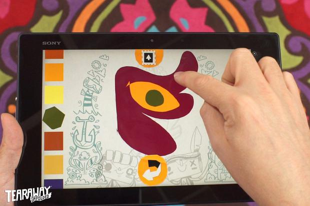 Tearaway Unfolded - The companion app allows for more finger fun to add to the game world