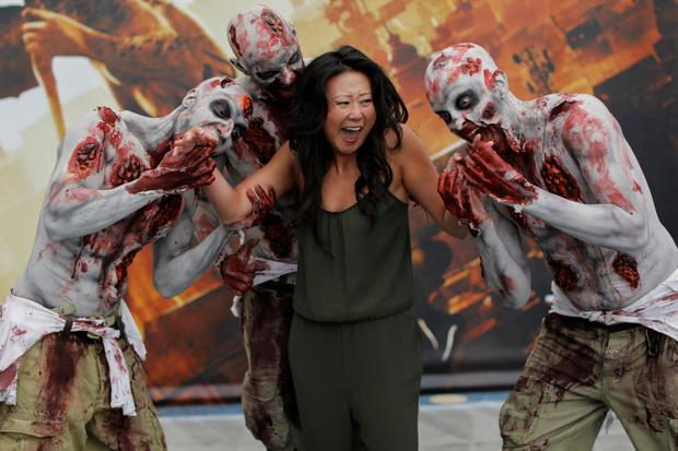 Exuberant: Zombies promote Dying Light 2 at E3. Photo: Mike Blake
