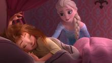 Elsa throws Anna a birthday party in Frozen Fever