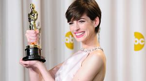 Anne Hathaway has been talking about her Oscars dress moment