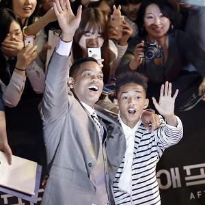 Father and son Will and Jaden Smith have fun on the red carpet