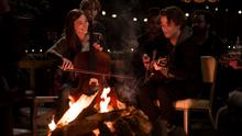MAKING MUSIC TOGETHER: Chloë Grace Moretz as Mia and Jamie Blackley as Adam in teen tearjerker If I Stay