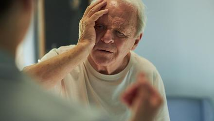 Anthony Hopkins in his Oscar-winning performance in The Father
