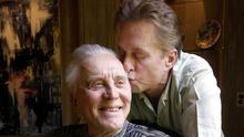 Michael Douglas was a devoted son to his father Kirk, who has died aged 103 (AP Photo/Chris Pizzello, File)