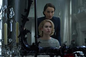 Lily James as Mrs de Winter, Kristin Scott Thomas as Mrs Danvers in 'Rebecca'. Photo: Netflix