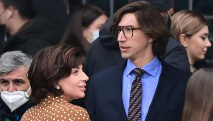 Controversial production: Lady Gaga and Adam Driver in Milan on the set of House of Gucci. Photos: Getty