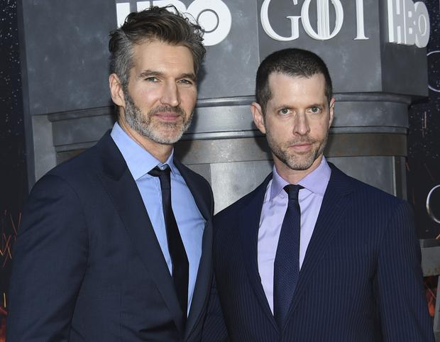David Benioff, left, and DB Weiss will direct the next instalment in the Star Wars franchise (Evan Agostini/Invision/AP, File)