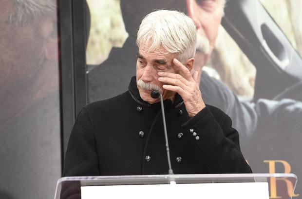 Actor Sam Elliott became emotional as his career was honoured at a ceremony in Los Angeles (Chris Pizzello/Invision/AP)