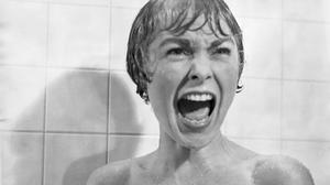 'Compellingly awful':Janet Leigh in the legendary shower scene in Psycho, which took a week to film