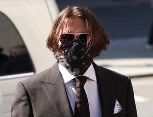Actor Johnny Depp arriving at the High Court in London (Yui Mok/PA)