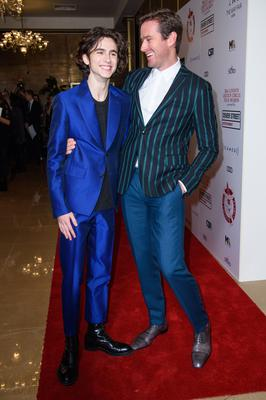 Timothee Chalamet (left) and Armie Hammer at the awards (Matt Crossick/PA)