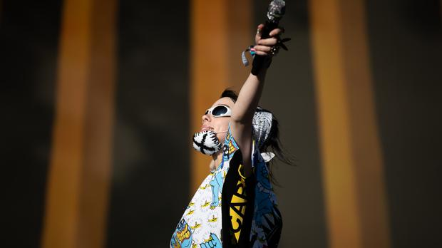 Billie Eilish performed on the Other Stage at Glastonbury Festival (Aaron Chown/PA)