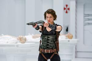 Milla Jovovich in Resident Evil, also about a lethal virus