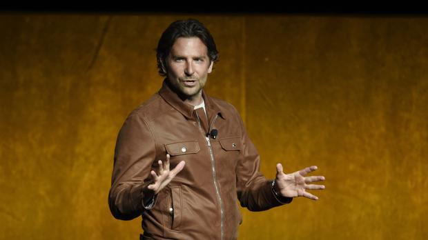 Bradley Cooper on stage at CinemaCon in Las Vegas