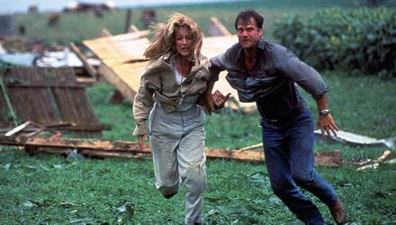 Helen Hunt and Bill Paxton in 1996 movie Twister