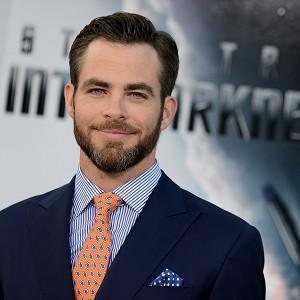 Chris Pine plays James T Kirk in the Star Trek films