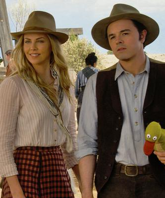 Leading role: Anna (Charlize Theron)  and Albert (Seth MacFarlane) in A Million Ways to Die in the West