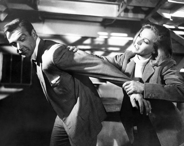 Sean Connery and Honor Blackman film a scene at Pinewood Studios (PA)
