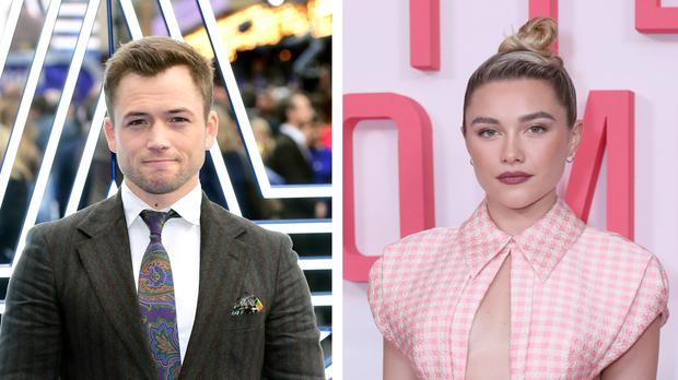 Taron Egerton and Florence Pugh are possible contenders for Oscar nominations (PA)