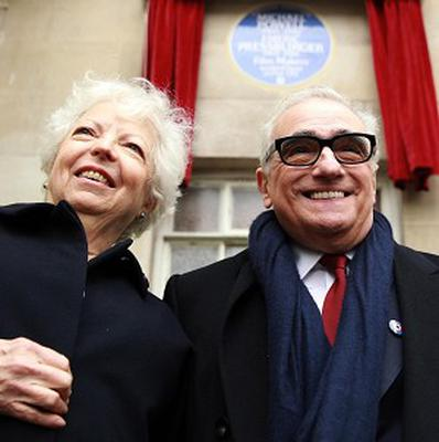 Martin Scorsese joined Michael Powell's widow Mrs Thelma Schoonmaker to unveil a blue plaque in honour of film makers Michael Powell and Emeric Pressburger