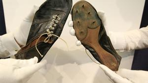 The running shoes worn by Sir Roger Bannister when he became the first man in history to run a sub-four-minute mile