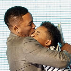 Will and Jaden Smith share the love at the premiere of After Earth in Seoul