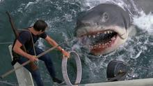 Jump-out-your-seat moments: Chief Brody in his battle with Jaws