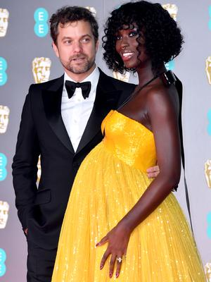 Jodie Turner-Smith arrived at the Baftas with her husband, actor Joshua Jackson (Matt Crossick/PA)