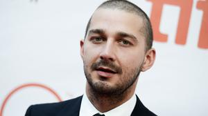 Shia LaBeouf attends a premiere for Man Down on day six of the Toronto International Film Festival. (AP)