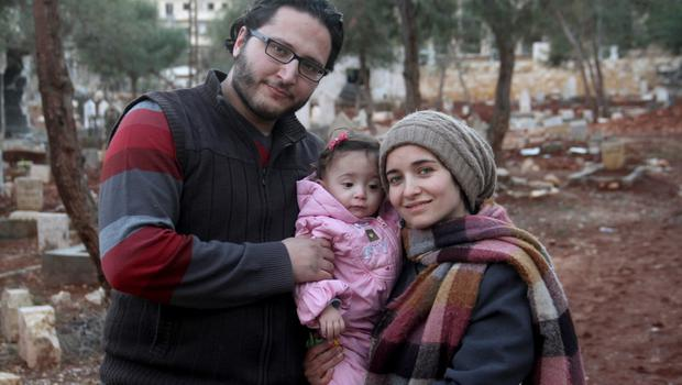 A love story set amidst chaos: Hamza and Waad al-Kateab in Aleppo with their daughter Sama