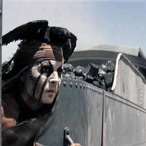 Johnny Depp plays Tonto in Disney's The Lone Ranger