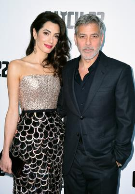 Amal and George Clooney have made donations to three Lebanese charities following a deadly blast in Beirut (Ian West/PA)