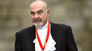 Sir Sean Connery after he was knighted by the Queen in 2000 (David Cheskin/PA)