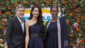 George and Amal Clooney and Nice Nailantei Leng'ete were honoured for their humanitarian work (David Cheskin/PA)