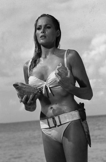 Ursula Andress emerging from the sea in Dr No (Danjaq/United Artists/PA)