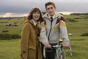 Family affair: Lola Petticrew and Fionn O'Shea in Dating Amber. Barry Ward plays Fionn's dad