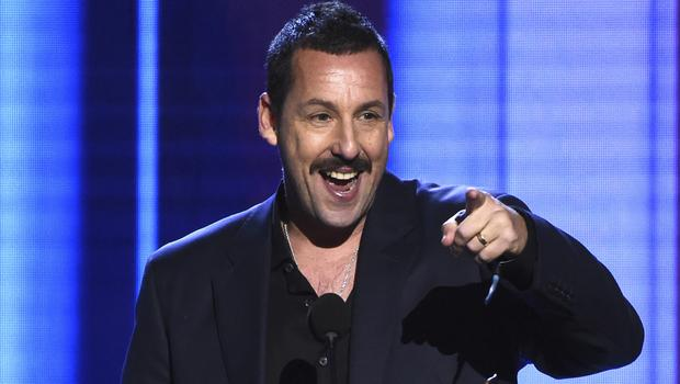 Adam Sandler made light of his Oscars snub as he won best actor at the 35th Film Independent Spirit Awards (AP Photo/Chris Pizzello)