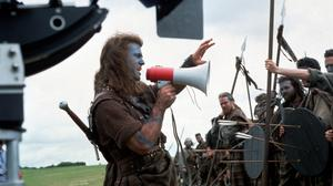 Mel Gibson directs FCA extras on the set of Braveheart
