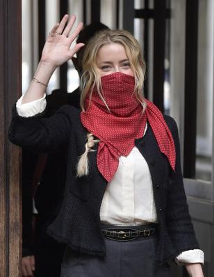 Actress Amber Heard at the High Court (Victoria Jones/PA)