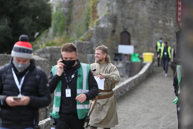 Matt Damon on set of film 'The Last Duel' in Cahir, Co.Tipperary. (Photo by Debbie Hickey/GC Images)
