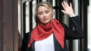 Actress Amber Heard at the High Court in London (Aaron Chown/PA)