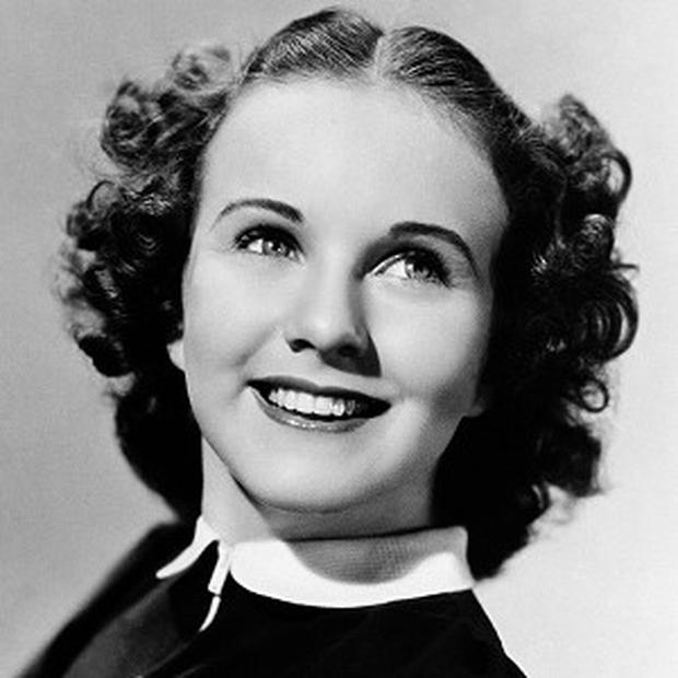 Singer and film actress Deanna Durbin in 1937